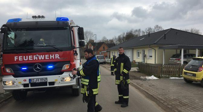 Zimmerbrand in Koberg